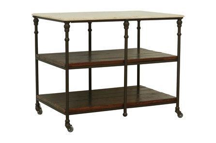 Cobre/Chestnut/Iron Kitchen Island