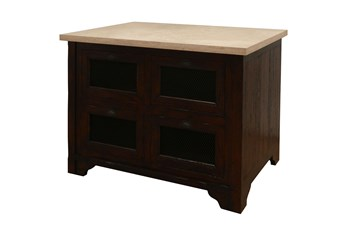 Chestnut & Cobre Kitchen Island