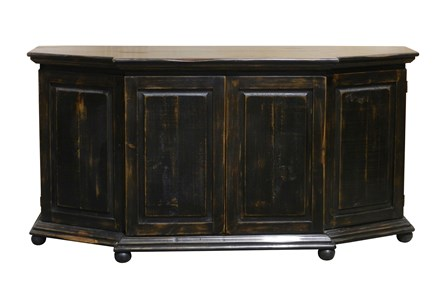 Antique Black 76 Inch Console