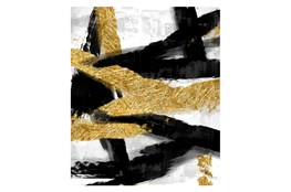 Picture-Black And Gold Abstract