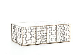 Stainless Steel & Glass Coffee Table