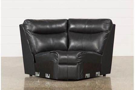 Della Anthracite Leather  Curver Corner