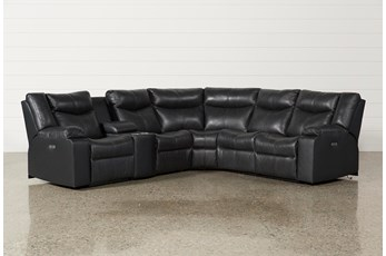 Della Anthracite 6 Piece Power Reclining Sectional