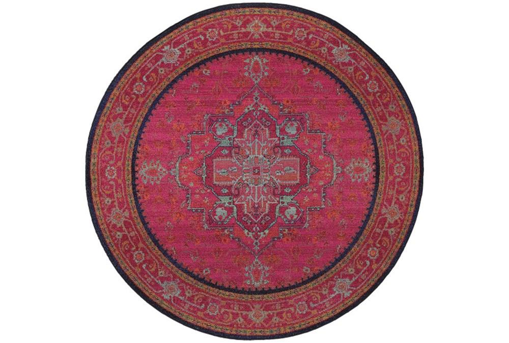 92 Inch Round Rug-Cora Fuschia