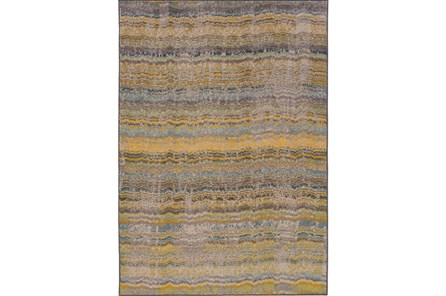 117X146 Rug-Ravi Stripes Blue