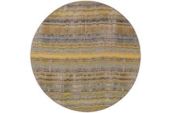 92 Inch Round Rug-Ravi Stripes Blue