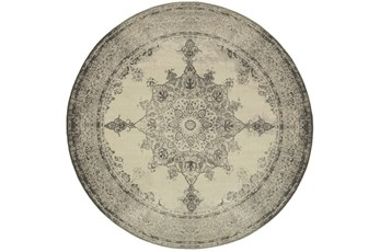 94 Inch Round Rug-Picabo Charcoal