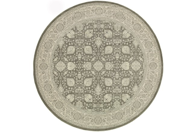 79 Inch Round Rug-Guinevere Charcoal - 360