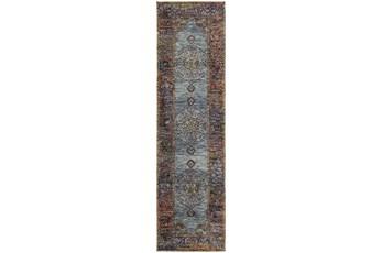 27X96 Rug-Harriet Moroccan Blue