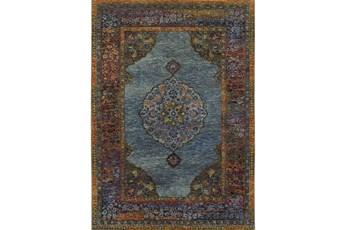 94X130 Rug-Harriet Moroccan Blue
