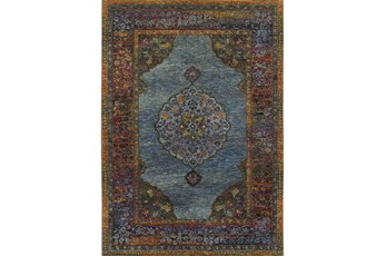 102X139 Rug-Harriet Moroccan Blue