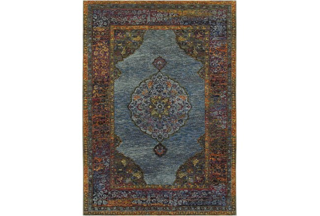 102X139 Rug-Harriet Moroccan Blue - 360