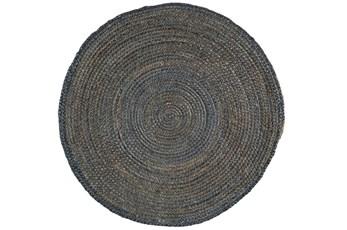 36 Inch Round Rug-Denim Jute