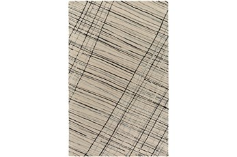 60X90 Rug-Crossed Charcoal Lines