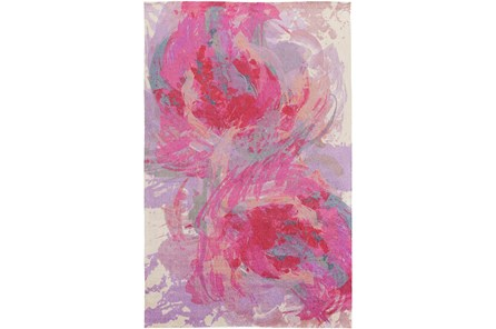 48X72 Rug-Pink Brushstrokes
