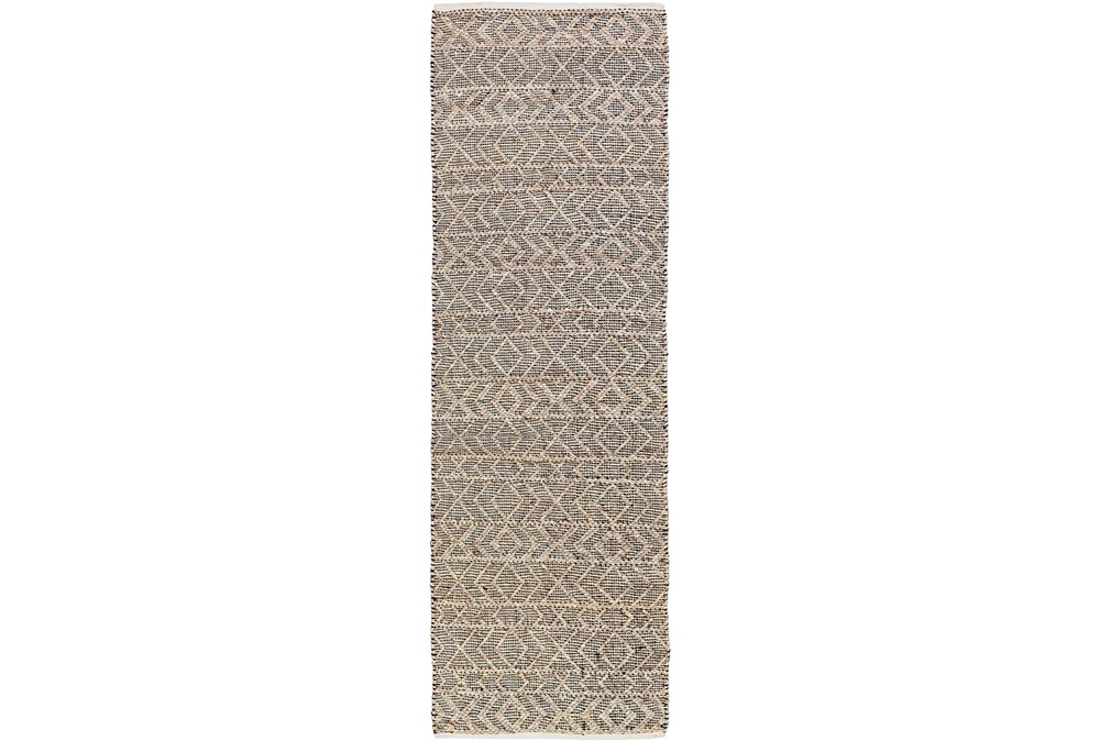 30X96 Rug-Diamond Stripe Dark Grey