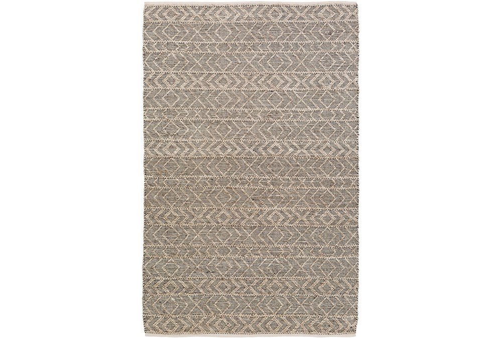 48X72 Rug-Diamond Stripe Dark Grey