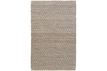 72X108 Rug-Diamond Stripe Dark Grey