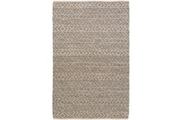 96X120 Rug-Diamond Stripe Dark Grey