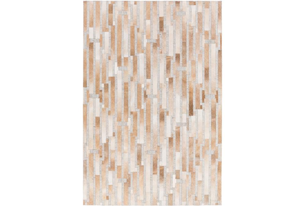 24X36 Rug-Tan Modern Stripes Hide
