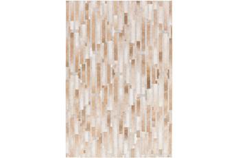 96X120 Rug-Tan Modern Stripes Hide