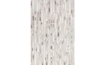 24X36 Rug-Grey Modern Stripes Hide
