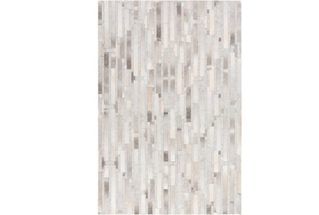 24X36 Rug-Grey Modern Stripes Hide - 360