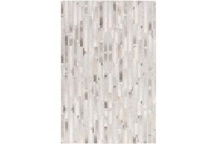 60X90 Rug-Grey Modern Stripes Hide