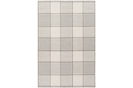48X72 Rug-Grey Plaid Flatweave