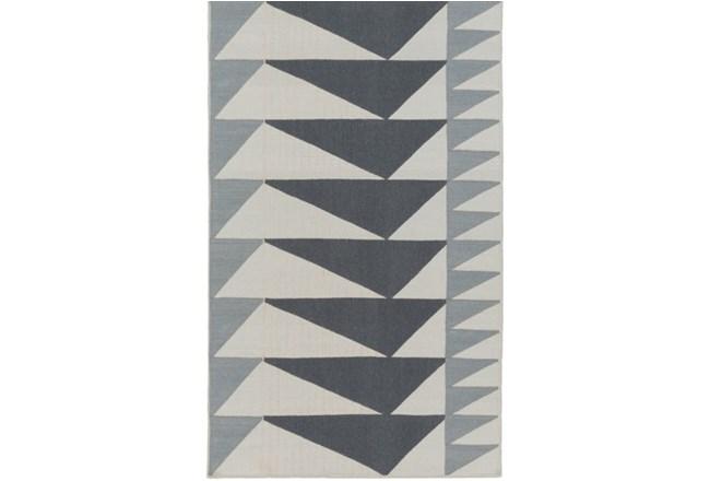 24X36 Rug-Charcoal Triangle Flatweave - 360