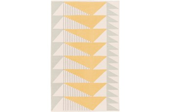 60X90 Rug-Yellow Triangle Flatweave