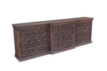 Antique Walnut Finish 6-Door Sideboard