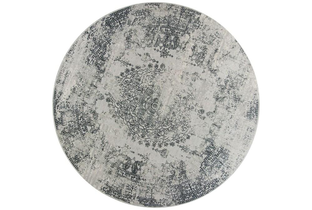 91 Inch Round Rug-Antique Grey