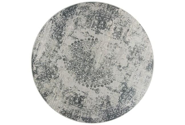 91 Inch Round Rug-Antique Grey - 360