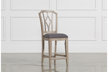 Caira Upholstered Diamond Back Counterstool