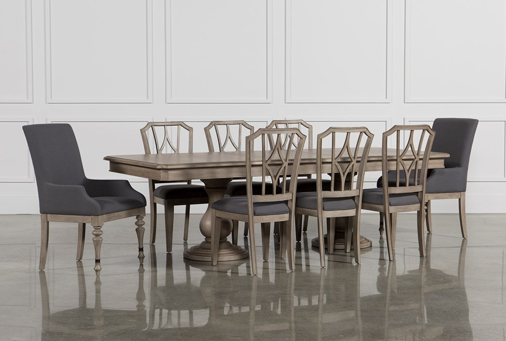 Caira 9 Piece Extension Dining Set W/Diamond Back Chairs