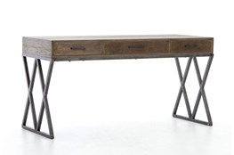 Oak & Iron Desk