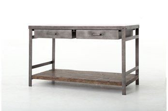 Mango Wood & Iron Kitchen Island