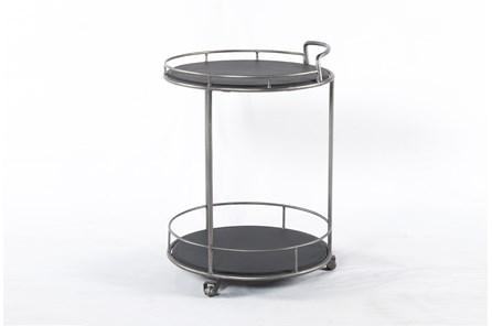 Iron & Black Slate Bar Cart