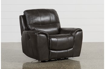 Vince Leather Power Recliner
