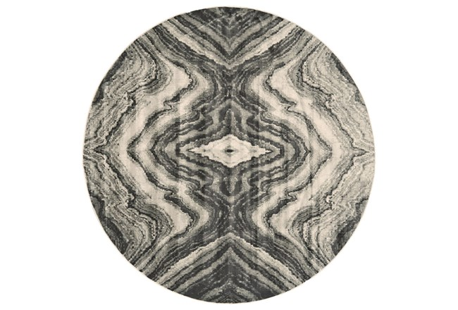 96 Round Rug-Grey Bookmatch Agate - 360