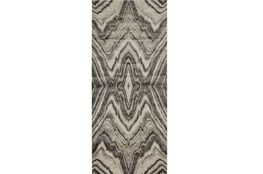 34X94 Rug-Grey Bookmatch Agate