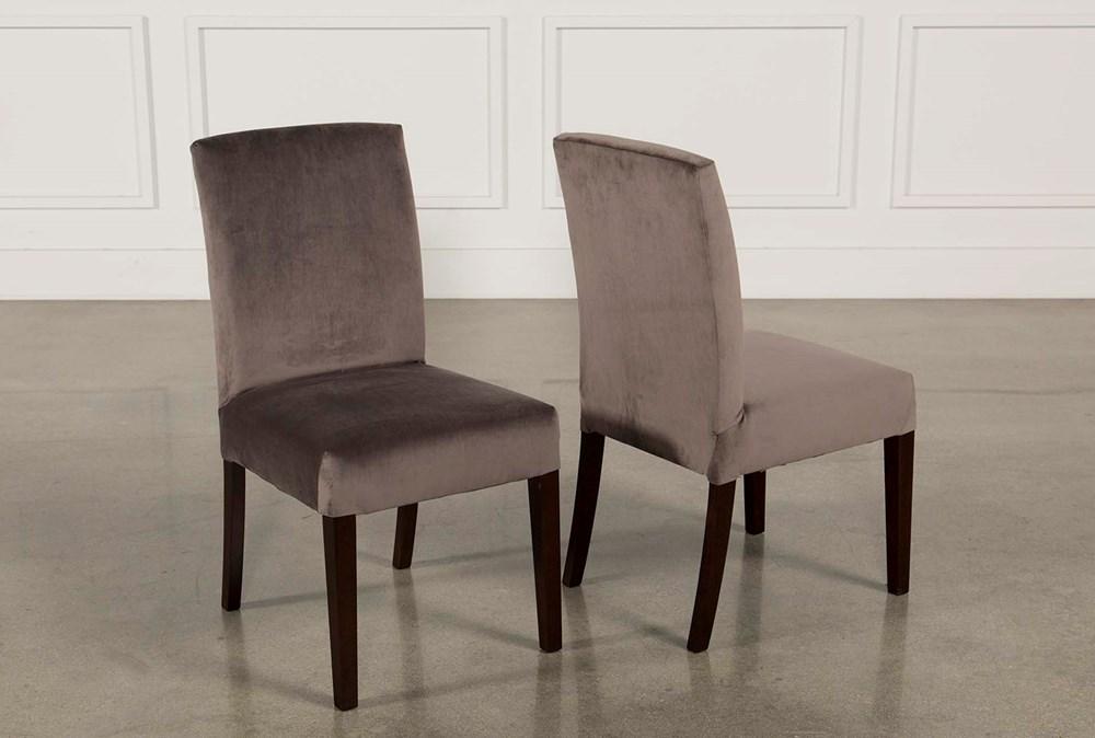 Garten Caviar Chairs W/Espresso Finish Set Of 2