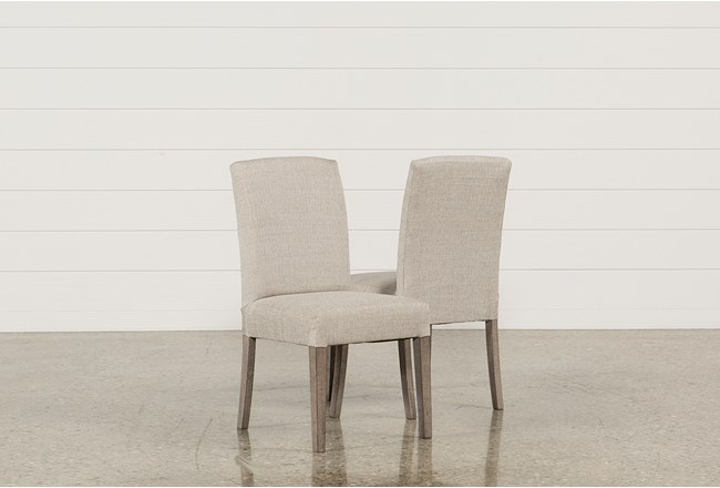 GARTEN LINEN CHAIRS W/GREYWASH FINISH SET OF 2 - 360