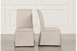 Garten Linen Skirted Dining Side Chairs Set Of 2