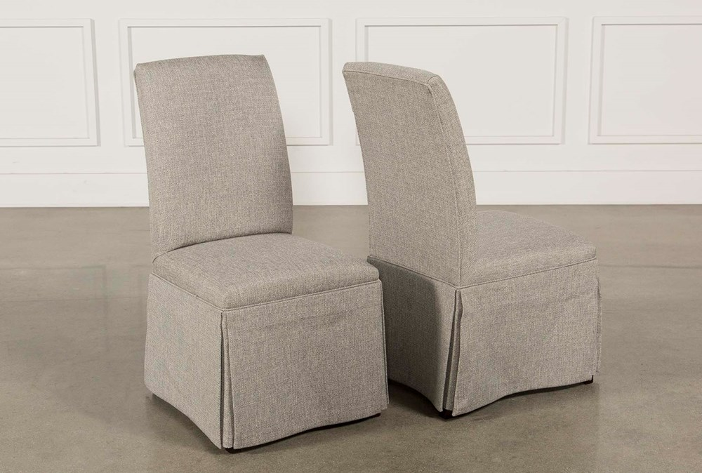 Garten Pashmina Skirted Side Chairs Set Of 2