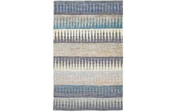 102X138 Rug -Turquoise Tribal Stripes