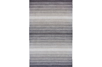 24X36 Rug-Light Grey Ombre Stripes