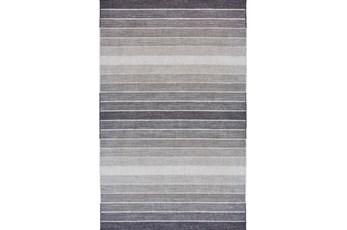 60X96 Rug-Light Grey Ombre Stripes