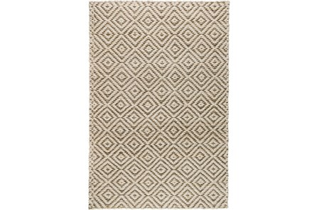 96X120 Rug-Grey Diamond Jute